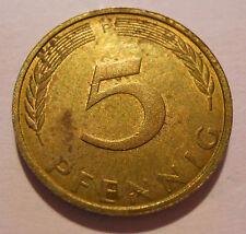 5 Pfennig DM Deutsche Mark Deutschland 1972 F Umlaufgeld