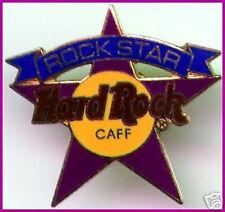 "Hard Rock Cafe STAFF ""ROCK STAR"" PIN Mistake Error ""CAFF"" - HRC Catalog #3392"