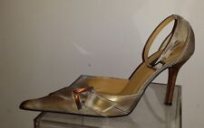 N.Y.L.A.METALLIC DISTRESS GOLD Leather Stilettos Shoes size 7 ½