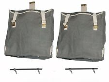 Side Hanging Canvas Bag Set Light Military Green BSA M20 21 Norton Triumph S2u