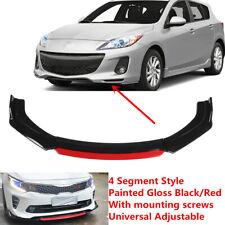 Fit For Mazda 3 2010 2013 Black Universal Front Bumper Lip Spoiler Splitter Red