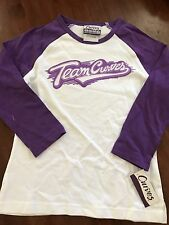 "NWT Curves Fitness Women's ""Team Curves"" Baseball Style Jersey XS"