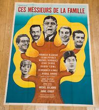 CES MESSIEURS DE LA FAMILLE Affiche cinéma 120X160 RAOUL ANDRÉ, BLANCHE, POIRET