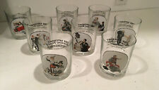 """Vtg-Lot Of 8 Norman Rockwell """"Saturday Evening Post Glass Glassware Collection�"""