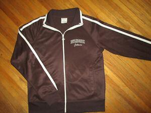 BOWLING GREEN FALCONS TRACK JACKET vtg ZipUp Zipper Warmup Sweatshirt Champion L