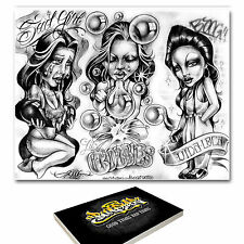 88 x A3 BOOG TATTOO FLASH Designs-BRAND NEW FACTORY SEALED! RRP £ 120