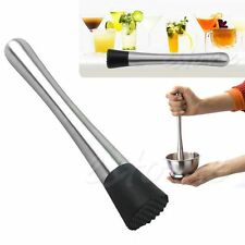 Cocktail Muddler Stainless Steel Bar Mixer Barware Drink Mojito Cocktail DIY