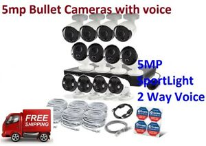 Swann NVR16-8580 16CH 4K 2TB 2x NHD-865MSFB SPOTLIGHT  8 x NHD-865MSB 5mp bullet