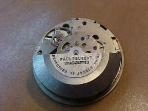 Vintage Paul Peugeot Automatic Watch Movement, AS 1906, 17 jewels. Working