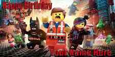 Birthday banner Personalized 4ft x 2 ft The Lego Movie Main Characters