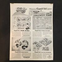 VINTAGE  CAMPBELL KIDS TOYS Ads Campbell's Soup 1950'S