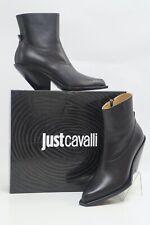 JustCavalli Damen Texas Stiefelette Ankle Boots Stiefel Schuhe Schwarz 39 #630