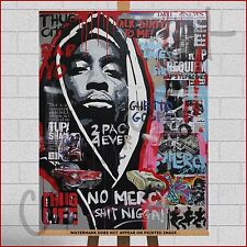 Tupac Shakur 2Pac Makaveli Rapper Rap Music Framed Canvas Print Picture Wall Art
