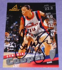 Cynthia Cooper Signed 1998 Wnba Pinnacle Card #10 Houston Comets Mvp Hof