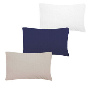 Sleepdown Jersey Melange Luxuriously Soft Plain Pillowcase Pair