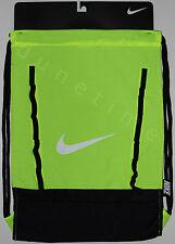 Nike Brasilia 7 Gymsack Backpack Volt & Black BA5079-700 New Authentic NWT