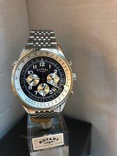 Rotary Men's Chronospeed Chronograph Blue Dial S.Steel Bracelet Watch GB03351/05