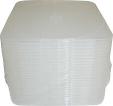 """(25) CDBP04CL CD Jewel Boxes 4mm Single 5"""" x 5"""" Clear Clamshell Cases Storage"""