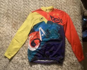 Castelli Airtex.soft Cycling Jersey Long Sleeve Size Large Made In Italy