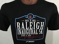 Rock 'N' Roll Raleigh Inaugural 5K 2016 Black Graphic T Shirt M Medium
