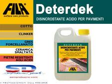 FILA DETERDEK ACIDO DISINCROSTANTE CERAMICA MURO GRES LAMINATI LEGNO LT 1 12055