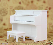New Miniature Furnitures Music Play Set White Piano for Sylvanian Families Dolls
