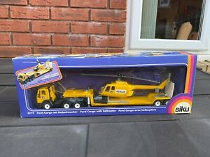 Siku 3719 Ford Cargo With Helicopter Rescue In Its Original Box - Mint Ex Shop