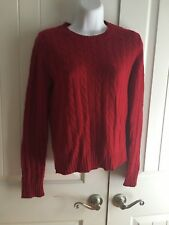 GEORGE RED LONG SLEEVE CARDIGAN 100% Cashmere SWEATER SIZE MISSES S (4/6)