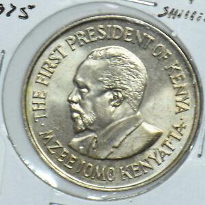 Kenya 1975 Mzeejomo Kenyatta Shilling Lions animal First President Of Kenya 1915