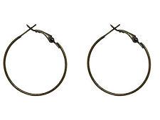 6 supports de boucles d oreilles créole 35 mm métal couleur bronze -ba032 b71066b17d47