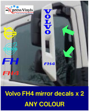 Volvo FH4 mirror decals x 2. truck graphic stickers. ANY COLOUR!!!