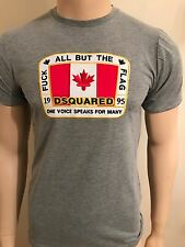 "Mens Bnwt White Dsquared2 All But The Flag Tshirt Grey Size L42""Chest"