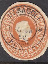 British Kut 1950 20c George Vi Postal Stationary Cut Out Maragoli Cds Vgc