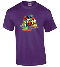 Melting Rubiks Cube Funny Big Bang Rubik's Sheldon Cooper T-Shirt
