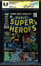 MARVEL SUPER-HEROES #1 CGC 8.0 SS STAN LEE 1966 1ST MARVEL ONE SHOT #1203280026