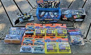 Huge AWESOME Hotwheels Matchbox car truck Nascar classic vintage 75+Lot NIB