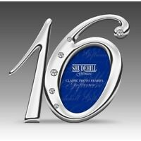 16th Birthday Silver Finish Diamante Number Photo Frame Sixteen Sixteenth 78016