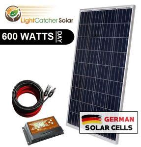 600W Watt System for off-grid battery charging 12-v volt (600W per day)