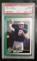 Troy Aikman 1991 Score Football #225 Dallas Cowboys PSA 10 GEM MINT