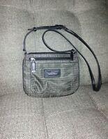 Calvin Klein Crossbody Purse Small Black & Grey with shoulder strap