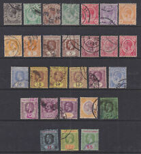 Straits Settlements Malaya 1921-33 Used Part Sets Definitives Die & Plate I & II
