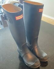 Hunter Original Women's Rain Boots - Black (size 7)
