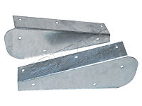 Land Rover Defender 90/110 Galvanised Rear Mud Flap Brackets DA1187 Upto WA