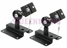 2 Pcs Set Heavy Duty Steel Adjustable Speaker Ceiling Wall Mount Brackets 33lbs