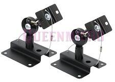 2 Pcs Set Heavy Duty Steel Adjustable Speaker Ceiling Wall Mount Brackets 33lbs