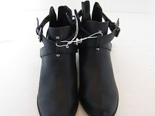 "LADIES BLACK 1.5""HEEL ZIP UP BACK BOOTS, SIZE 6M, ATTENTION BRAND NWT"