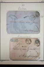 Austria 1860's Stamp Postcard Lot
