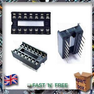 DIP Pin Integrated Circuit IC Sockets Adaptor Solder Type 8 14 16 18 20 24 28