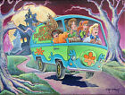 Scooby Doo Dan Bowden Signed 2020 Hanna Barbera Ltd Edition Print of 200 FRAMED