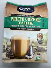 Owl 3 in 1 White Coffee Tarik with Creamer Coconut Sugar 30g x 15 Sachets
